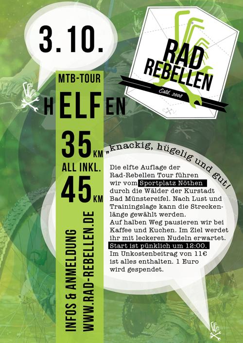 """RADREBELLEN TOUR 11 """"hELFen"""" (Flyer+Newsletter)"""